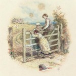 Children Swinging on a Gate